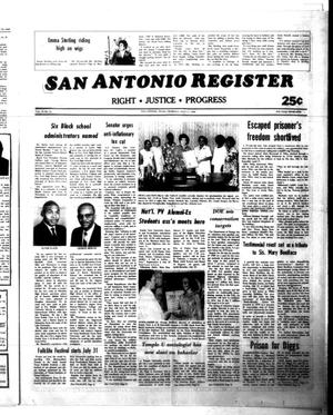 Primary view of object titled 'San Antonio Register (San Antonio, Tex.), Vol. 49, No. 16, Ed. 1 Thursday, July 17, 1980'.