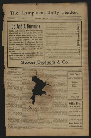 The Lampasas Daily Leader. (Lampasas, Tex.), Vol. 6, No. 1652, Ed. 1 Tuesday, July 6, 1909