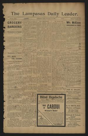 The Lampasas Daily Leader. (Lampasas, Tex.), Vol. 2, No. 609, Ed. 1 Friday, February 23, 1906