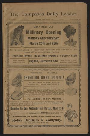 The Lampasas Daily Leader. (Lampasas, Tex.), Vol. 4, No. 943, Ed. 1 Saturday, March 23, 1907