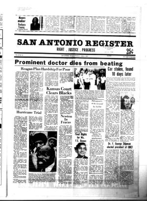 Primary view of object titled 'San Antonio Register (San Antonio, Tex.), Vol. 49, No. 52, Ed. 1 Thursday, April 2, 1981'.