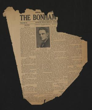 Primary view of object titled 'The Bonham Herald (Bonham, Tex.), Vol. 9, No. [51], Ed. 1 Monday, February 24, 1936'.