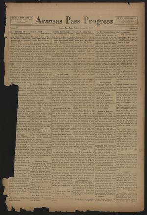 Primary view of object titled 'Aransas Pass Progress (Aransas Pass, Tex.), Vol. 4, No. 42, Ed. 1 Friday, January 24, 1913'.