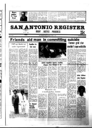 Primary view of object titled 'San Antonio Register (San Antonio, Tex.), Vol. 51, No. 3, Ed. 1 Thursday, April 23, 1981'.