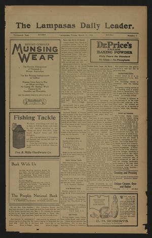 The Lampasas Daily Leader. (Lampasas, Tex.), Vol. 13, No. 5, Ed. 1 Saturday, March 11, 1916