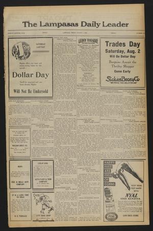 The Lampasas Daily Leader (Lampasas, Tex.), Vol. 27, No. 126, Ed. 1 Friday, August 1, 1930