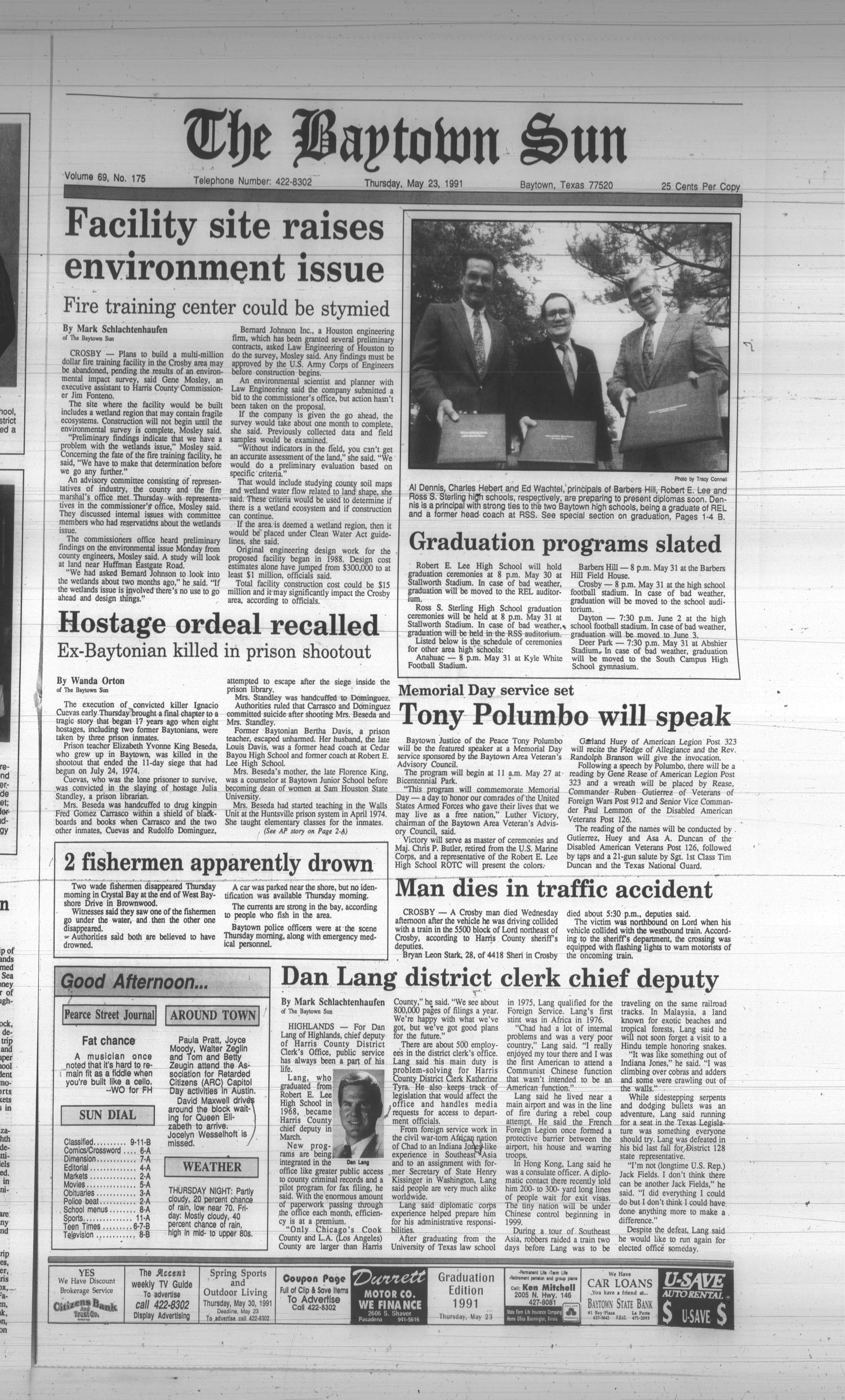 The Baytown Sun (Baytown, Tex.), Vol. 69, No. 175, Ed. 1 Thursday, May 23, 1991                                                                                                      [Sequence #]: 1 of 24