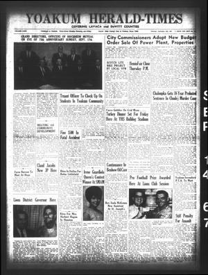 Yoakum Herald-Times (Yoakum, Tex.), Vol. 69, No. 106, Ed. 1 Thursday, September 14, 1967