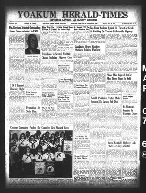 Yoakum Herald-Times (Yoakum, Tex.), Vol. 70, No. 28, Ed. 1 Thursday, March 7, 1968