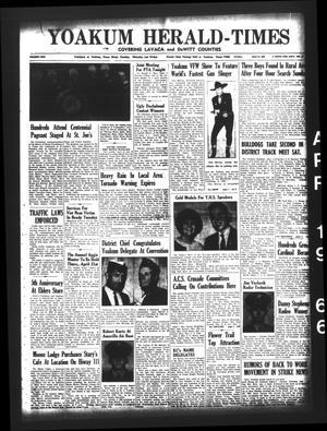 Yoakum Herald-Times (Yoakum, Tex.), Vol. 69, No. 46, Ed. 1 Tuesday, April 19, 1966