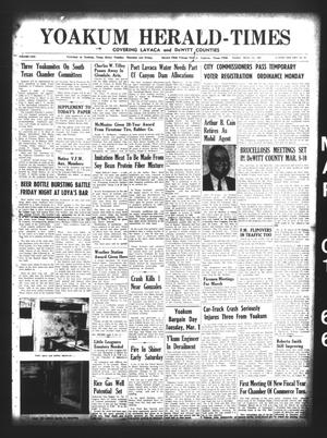 Primary view of object titled 'Yoakum Herald-Times (Yoakum, Tex.), Vol. 69, No. 25, Ed. 1 Tuesday, March 1, 1966'.