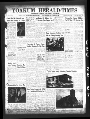 Yoakum Herald-Times (Yoakum, Tex.), Vol. 69, No. 149, Ed. 1 Thursday, December 28, 1967