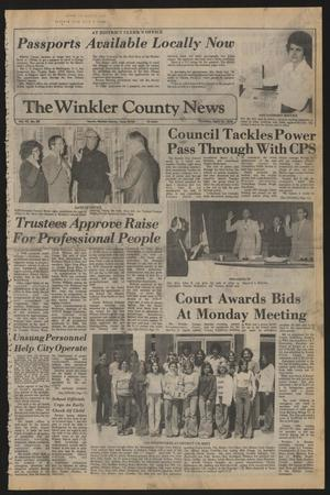 Primary view of object titled 'The Winkler County News (Kermit, Tex.), Vol. 42, No. 59, Ed. 1 Thursday, April 13, 1978'.