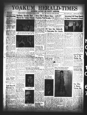 Primary view of object titled 'Yoakum Herald-Times (Yoakum, Tex.), Vol. 69, No. 131, Ed. 1 Friday, November 10, 1967'.
