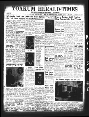 Primary view of object titled 'Yoakum Herald-Times (Yoakum, Tex.), Vol. 69, No. 61, Ed. 1 Tuesday, May 24, 1966'.