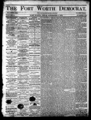 Primary view of The Fort Worth Democrat. (Fort Worth, Tex.), Vol. 2, No. 50, Ed. 1 Saturday, November 8, 1873
