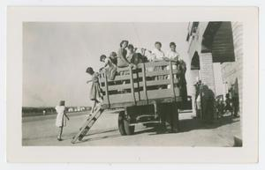 [Students in a Wagon]