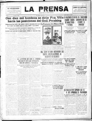 La Prensa (San Antonio, Tex.), Vol. 4, No. 750, Ed. 1 Tuesday, December 5, 1916, La Prensa