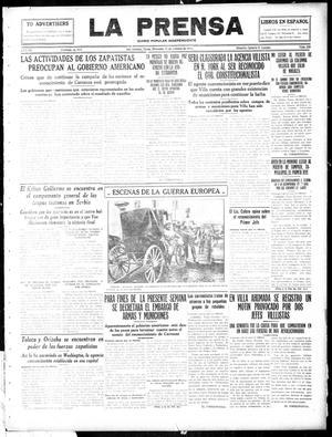 La Prensa (San Antonio, Tex.), Vol. 3, No. 338, Ed. 1 Wednesday, October 13, 1915, La Prensa