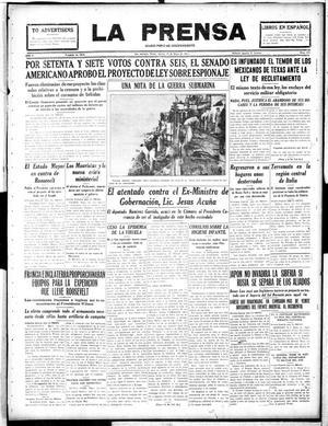 La Prensa (San Antonio, Tex.), Vol. 5, No. 922, Ed. 1 Tuesday, May 15, 1917, La Prensa