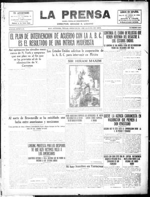 Primary view of object titled 'La Prensa (San Antonio, Tex.), Vol. 3, No. 268, Ed. 1 Wednesday, August 4, 1915'.