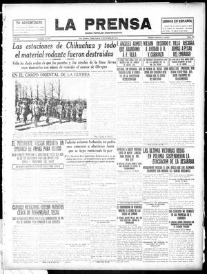 La Prensa (San Antonio, Tex.), Vol. 3, No. 346, Ed. 1 Thursday, October 21, 1915, La Prensa