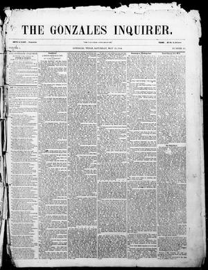Primary view of object titled 'The Gonzales Inquirer. (Gonzales, Tex.), Vol. 1, No. 50, Ed. 1 Saturday, May 13, 1854'.