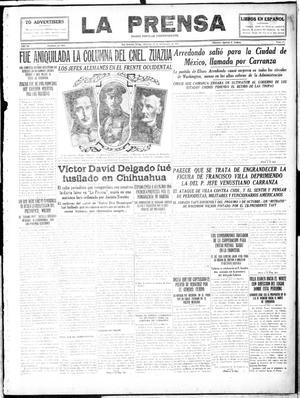 Primary view of La Prensa (San Antonio, Tex.), Vol. 4, No. 684, Ed. 1 Wednesday, September 27, 1916
