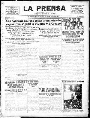 La Prensa (San Antonio, Tex.), Vol. 3, No. 233, Ed. 1 Wednesday, June 30, 1915, La Prensa