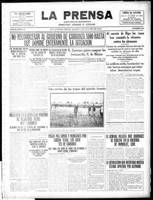 La Prensa (San Antonio, Tex.), Vol. 3, No. 330, Ed. 1 Tuesday, October 5, 1915