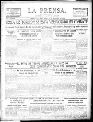 La Prensa. (San Antonio, Tex.), Vol. 2, No. 52, Ed. 1 Thursday, December 10, 1914