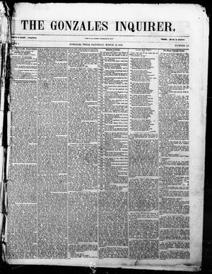 The Gonzales Inquirer. (Gonzales, Tex.), Vol. 1, No. 42, Ed. 1 Saturday, March 18, 1854