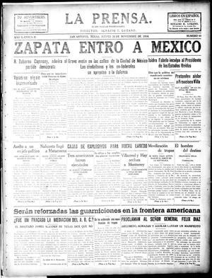 La Prensa. (San Antonio, Tex.), Vol. 2, No. 40, Ed. 1 Thursday, November 26, 1914, La Prensa