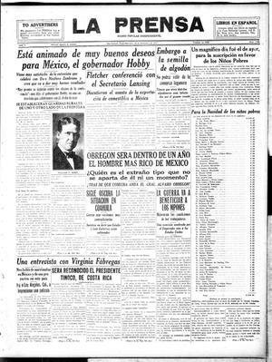 La Prensa (San Antonio, Tex.), Vol. 5, No. 1129, Ed. 1 Wednesday, December 19, 1917, La Prensa