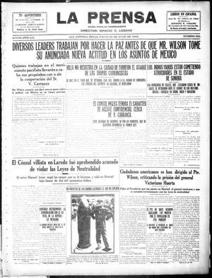 La Prensa (San Antonio, Tex.), Vol. 3, No. 262, Ed. 1 Thursday, July 29, 1915, La Prensa