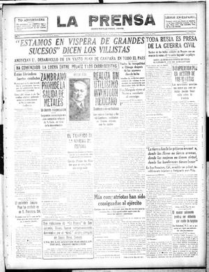 Primary view of object titled 'La Prensa (San Antonio, Tex.), Vol. 5, No. 1068, Ed. 1 Sunday, November 18, 1917'.
