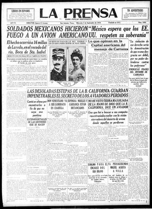 La Prensa (San Antonio, Tex.), Vol. 6, No. 1668, Ed. 1 Wednesday, September 3, 1919, La Prensa