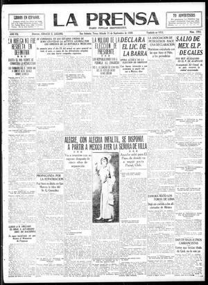La Prensa (San Antonio, Tex.), Vol. 7, No. 1983, Ed. 1 Saturday, September 11, 1920, La Prensa