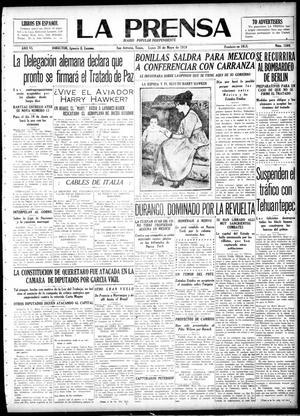 La Prensa (San Antonio, Tex.), Vol. 6, No. 1569, Ed. 1 Monday, May 26, 1919, La Prensa