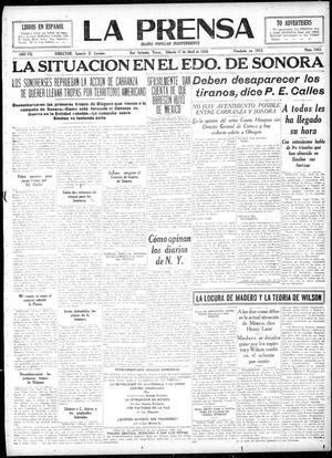 La Prensa (San Antonio, Tex.), Vol. 7, No. 1843, Ed. 1 Saturday, April 17, 1920, La Prensa