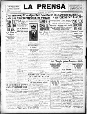 La Prensa (San Antonio, Tex.), Vol. 5, No. 1142, Ed. 1 Sunday, February 3, 1918, La Prensa