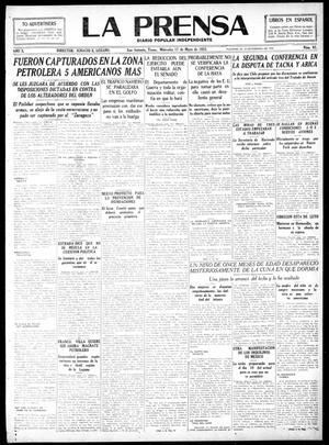 La Prensa (San Antonio, Tex.), Vol. 10, No. 93, Ed. 1 Wednesday, May 17, 1922, La Prensa