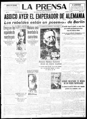 La Prensa (San Antonio, Tex.), Vol. 6, No. 1373, Ed. 1 Sunday, November 10, 1918, La Prensa