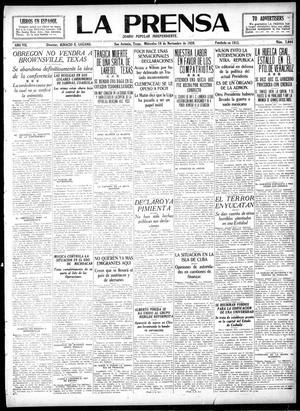 La Prensa (San Antonio, Tex.), Vol. 7, No. 2,044, Ed. 1 Wednesday, November 10, 1920, La Prensa