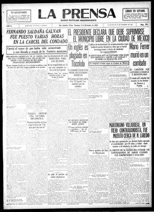 La Prensa (San Antonio, Tex.), Vol. 10, No. 291, Ed. 1 Sunday, December 3, 1922, La Prensa