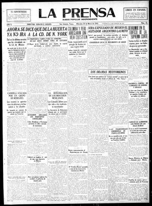 La Prensa (San Antonio, Tex.), Vol. 10, No. 45, Ed. 1 Wednesday, March 29, 1922, La Prensa