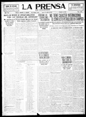 Primary view of La Prensa (San Antonio, Tex.), Vol. 8, No. 2,281, Ed. 1 Thursday, July 7, 1921