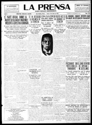 Primary view of La Prensa (San Antonio, Tex.), Vol. 10, No. 119, Ed. 1 Monday, June 12, 1922