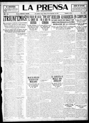 La Prensa (San Antonio, Tex.), Vol. 8, No. 2,362, Ed. 1 Friday, September 30, 1921, La Prensa