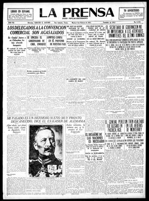La Prensa (San Antonio, Tex.), Vol. 7, No. 2,133, Ed. 1 Tuesday, February 8, 1921, La Prensa